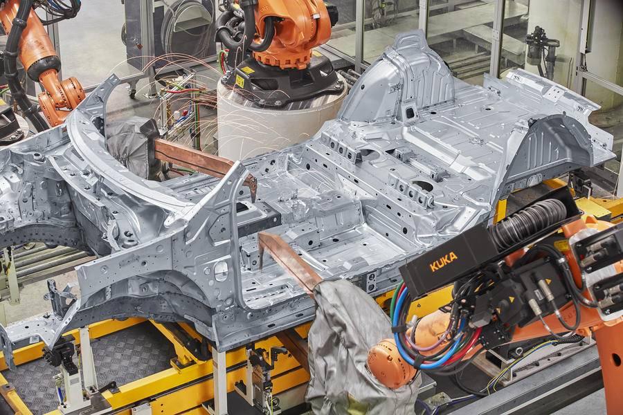 宝沃工厂制造半成品车间效果图