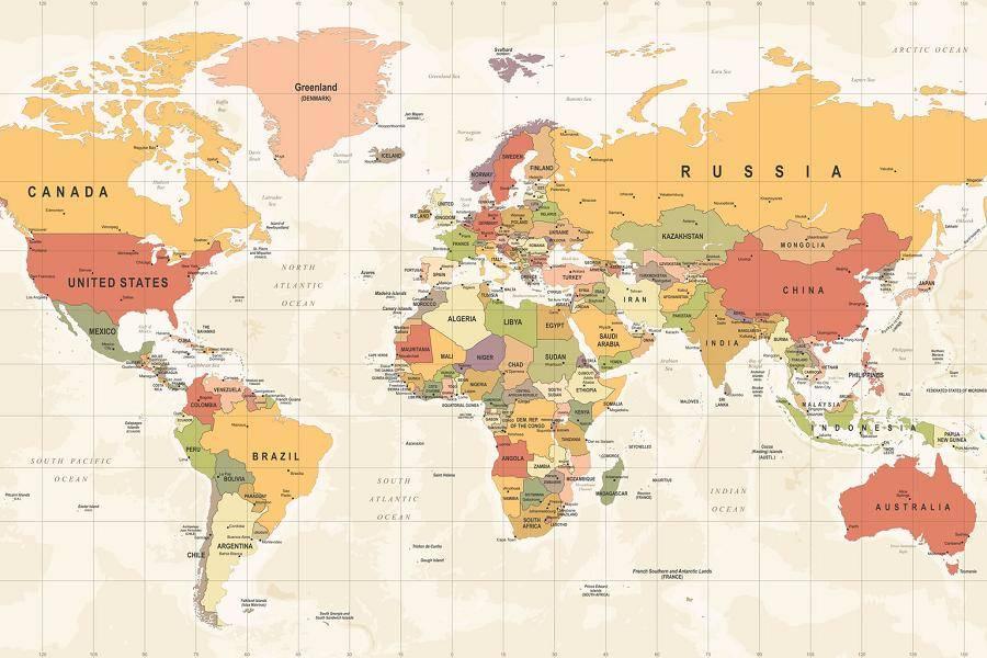 世界地图,发达经济体,新兴经济体,经济危机