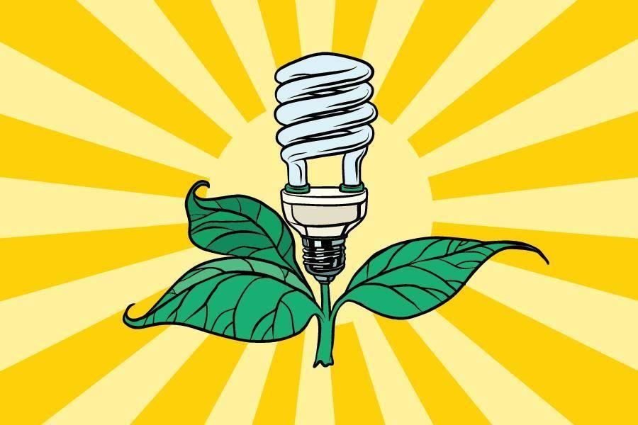绿色 节能 环保 灯泡 生态环保 污染治理
