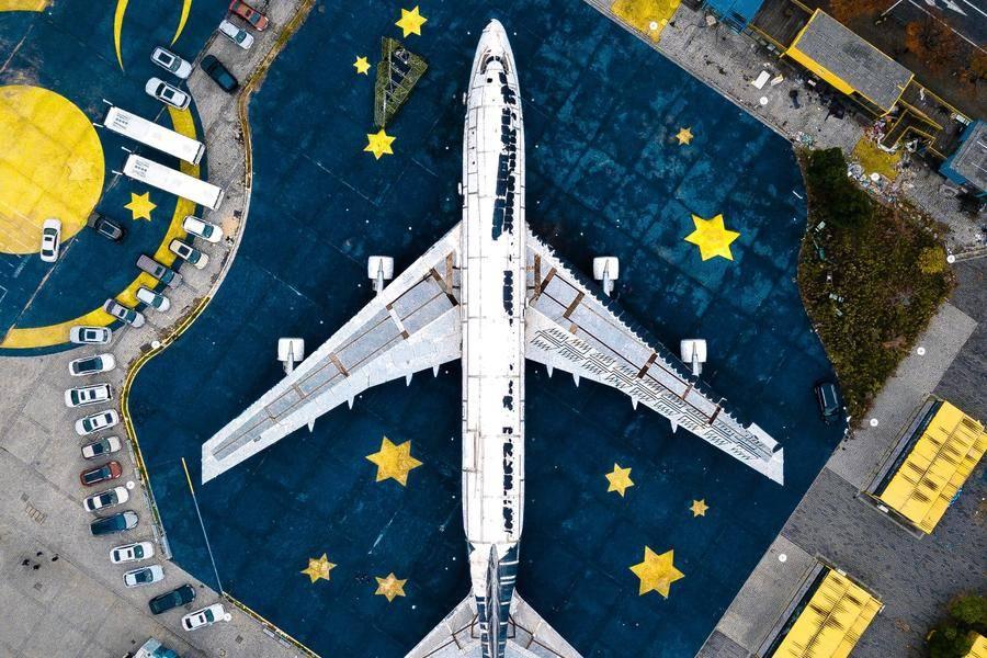 智慧城市 航班 飛機 機場