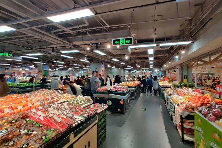 物美超市内景