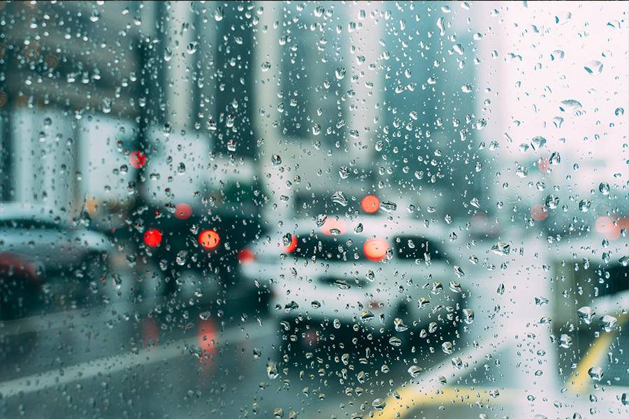 汽车,雨,