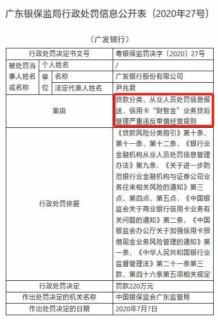 广东银保监局走政责罚2