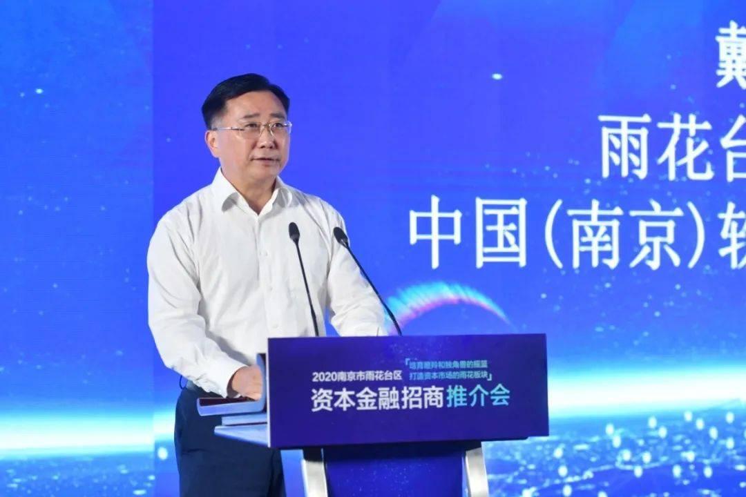 雨花台区委书记、中国(南京)柔件谷党工委书记戴华杰致辞