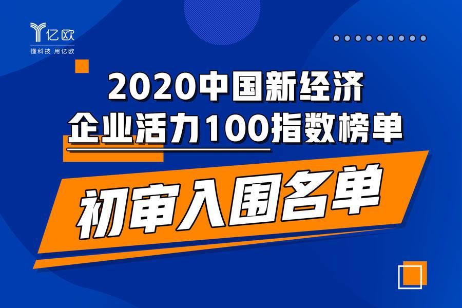 中国新经济企业活力100指数榜单初审入围名单