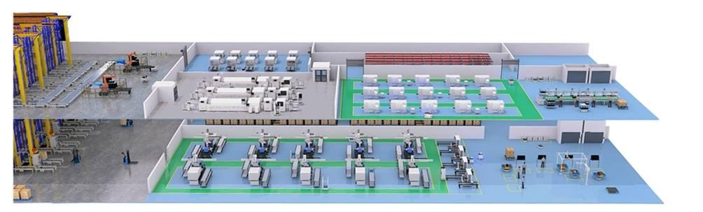 智能工厂渲染图