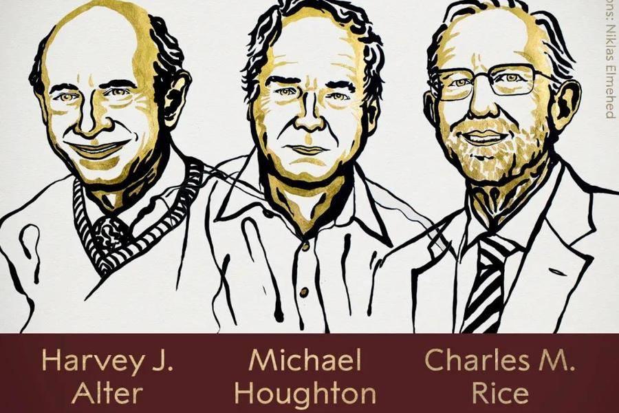 諾獎生理學或醫學獎公布,丙肝病毒三位發現者獲獎