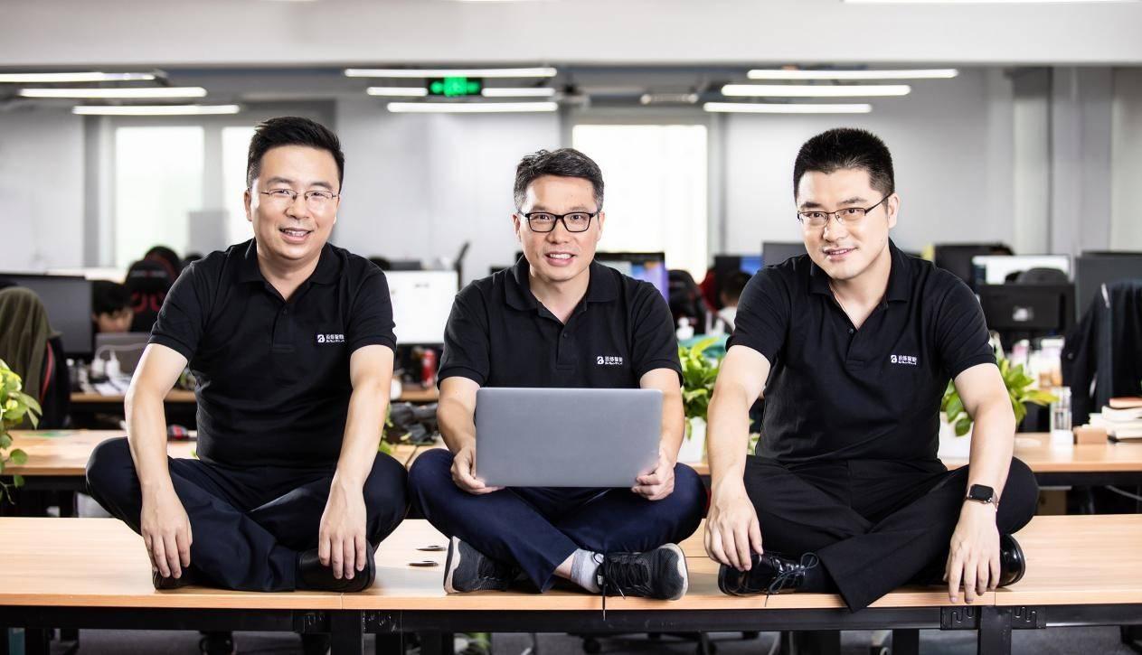 百炼智能创始团队:左起为创始人兼总裁姚从磊、创始人兼CEO冯是聪、创始人兼VP佘伟