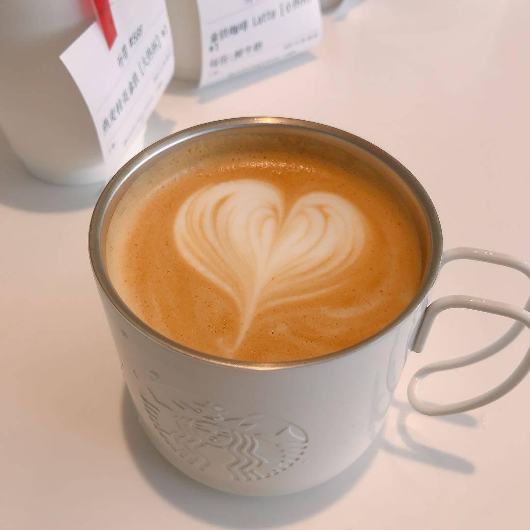 自带杯打咖啡也有拉花