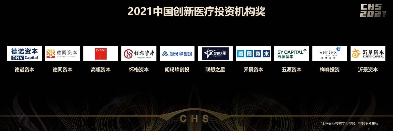 2021中国创新医疗投资机构奖